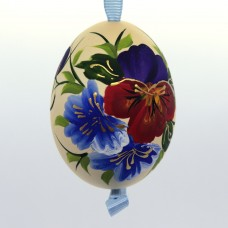 Christmas Easter Salzburg Hand Painted Easter Egg - Flowers - TEMPORARILY OUT OF STOCK
