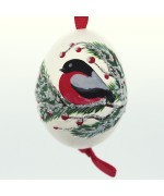 Christmas Easter Salzburg Hand Painted Easter Egg - Holiday Bird