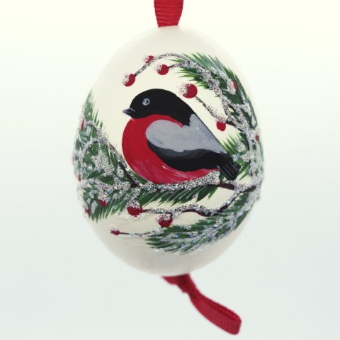 TEMPORARILY OUT OF STOCK - NEW - Christmas Easter Salzburg Hand Painted Easter Egg - Holiday Bird