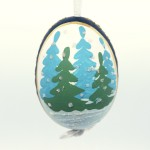 Christmas Easter Salzburg Hand Painted Easter Egg - Winter Cabin