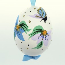 NEW - Christmas Easter Salzburg Hand Painted Easter Egg - Butterfly with Flowers