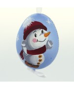 NEW - Christmas Easter Salzburg Hand Painted Easter Egg - Skating Snowman