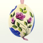 Christmas Easter Salzburg Hand Painted Easter Egg - Peacock - TEMPORARILY OUT OF STOCK