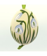 NEW - Christmas Easter Salzburg Hand Painted Easter Egg - Snowbell Flower