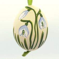 Christmas Easter Salzburg Hand Painted Easter Egg - Snowbell Flower