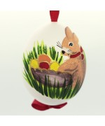 NEW - Christmas Easter Salzburg Hand Painted Easter Egg - Easter Bunny