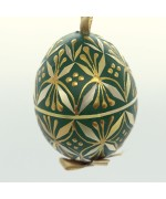Christmas Easter Salzburg Hand Painted Easter Egg - Green Straw Egg