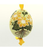 Christmas Easter Salzburg Hand Painted Easter Egg - Yellow Flowers