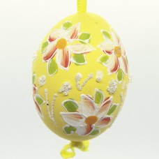 NEW - Christmas Easter Salzburg Hand Painted Easter Egg - Orange Flowers
