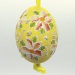 Christmas Easter Salzburg Hand Painted Easter Egg - Orange Flowers