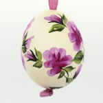 Christmas Easter Salzburg Hand Painted Easter Egg - Pink Flowers - TEMPORARILY OUT OF STOCK