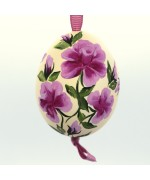 NEW - Christmas Easter Salzburg Hand Painted Easter Egg - Pink Flowers