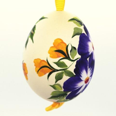 Christmas Easter Salzburg Hand Painted Easter Egg - Purple Flowers