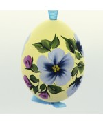 Christmas Easter Salzburg Hand Painted Easter Egg - Blue Flowers
