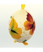 NEW - Christmas Easter Salzburg Hand Painted Easter Egg - Butterflies