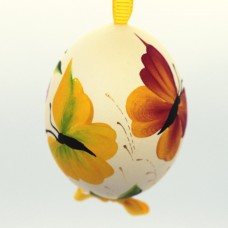 Christmas Easter Salzburg Hand Painted Easter Egg - Butterflies