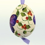 Christmas Easter Salzburg Hand Painted Easter Egg - Purple Butterfly