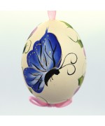Christmas Easter Salzburg Hand Painted Easter Egg - Blue Butterfly