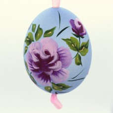 Christmas Easter Salzburg Hand Painted Easter Egg - Pink Flowers