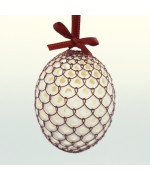 Christmas Easter Salzburg Hand Painted Easter Egg - Copper Wire Egg