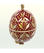 Christmas Easter Salzburg Hand Painted Easter Egg - Red Straw Egg
