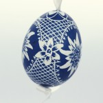 NEW - Christmas Easter Salzburg Hand Painted Easter Egg - Edelweiss Egg