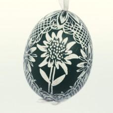 Christmas Easter Salzburg Hand Painted Easter Egg - Edelweiss Egg