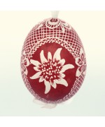Christmas Easter Salzburg Hand Painted Easter Egg - Edelweiss Egg