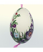 Christmas Easter Salzburg Hand Painted Goose Easter Egg