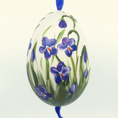 NEW - Christmas Easter Salzburg Hand Painted Goose Easter Egg