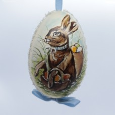 NEW - Peter Priess of Salzburg Hand Painted Goose Easter Egg