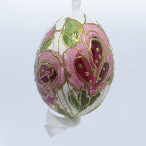 TEMPORARILY OUT OF STOCK - Peter Priess of Salzburg Hand Painted Easter Egg - Flowers