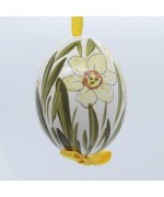 Peter Priess of Salzburg Hand Painted Easter Egg - Flowers