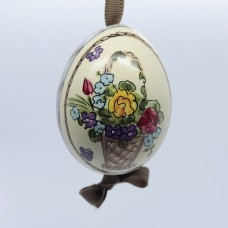 NEW - Peter Priess of Salzburg Hand Painted Easter Egg - Flowers - TEMPORARILY OUT OF STOCK