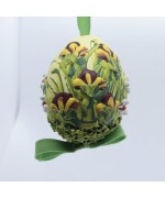 NEW - Peter Priess of Salzburg Hand Painted Easter Egg - Flowers