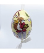 Peter Priess of Salzburg Hand Painted Easter Egg - Mr Rabbit - TEMPORARILY OUT OF STOCK