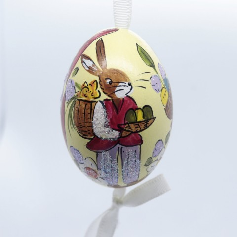 NEW - Peter Priess of Salzburg Hand Painted Easter Egg - Mr Rabbit