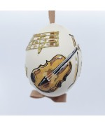 Peter Priess of Salzburg Hand Painted Easter Egg - Music Notes