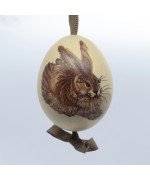 NEW - Peter Priess of Salzburg Hand Painted Easter Egg - Hare Rabbit