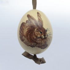Peter Priess of Salzburg Hand Painted Easter Egg - Hare Rabbit