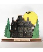 NEW - Ginger Cottages Haunted House - Light Up Ginger Stacks