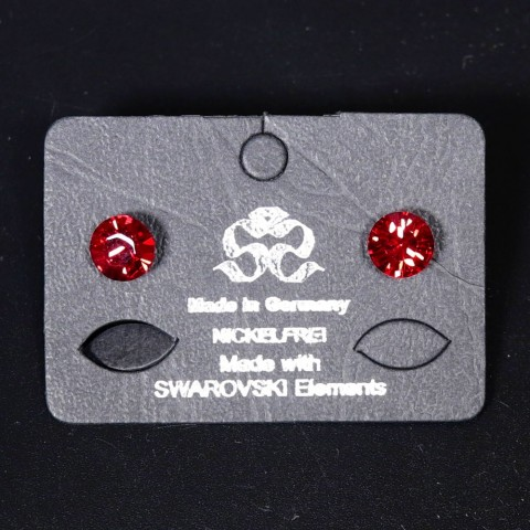 NEW - Women's Red Swarovski Earrings