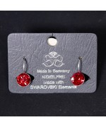 NEW - Women's Red Swarovski Earrings