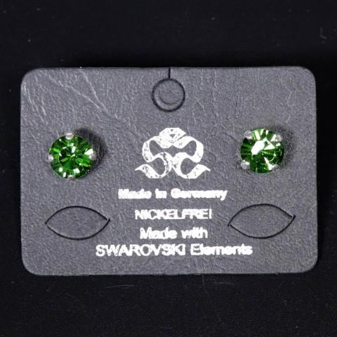 NEW - Women's Green Swarovski Earrings