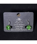 NEW - Women's Green Swarovski Earrings