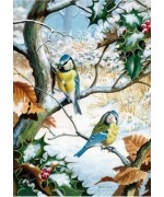 Wentworth Puzzle - Blue Tits in Winter - TEMPORARILY OUT OF STOCK