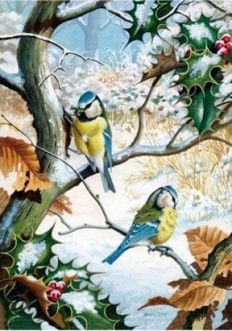 NEW - Wentworth Puzzle - Blue Tits in Winter