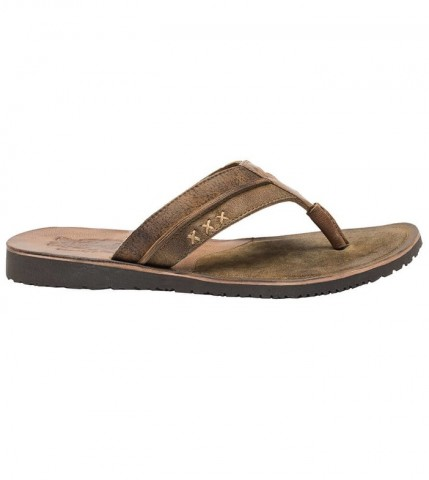 NEW - Stockerpoint Men's Leather Flip Flops