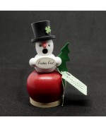 NEW - Miniature Incense Burner - Snowman