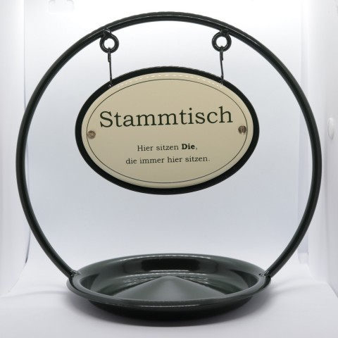 Stammtisch Table Sign with Ash Tray